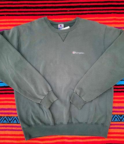 Vintage faded dark green Champion sweatshirt size XXL