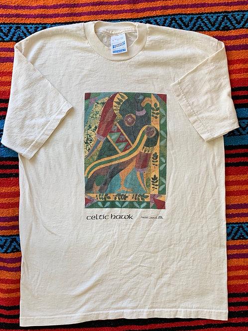 Vintage Celtic Hawk T shirt size Large