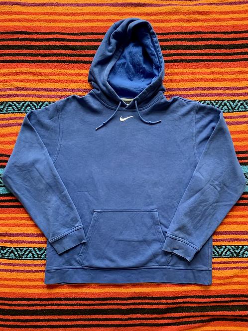 Vintage Nike center swoosh blue hoodie size large