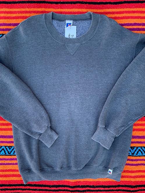 Vintage dark gray Russell Athletic blank sweatshirt size XXL