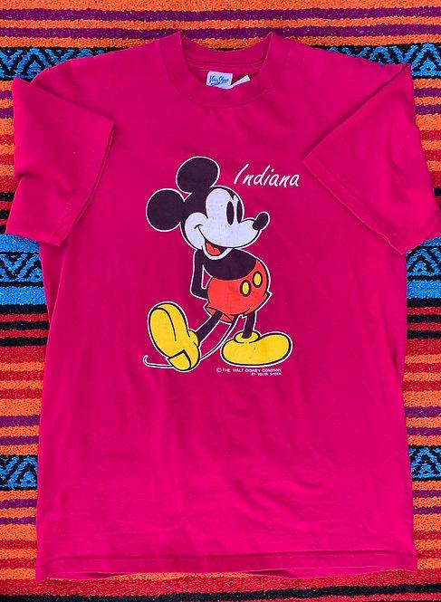 Vintage Mickey Mouse Indiana T shirt size Medium
