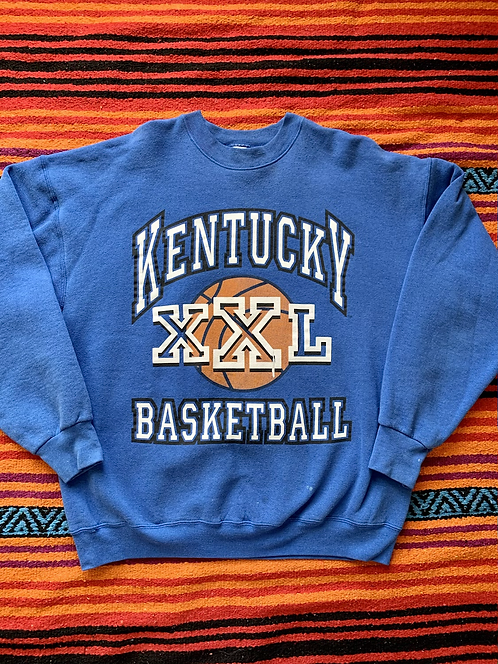 Vintage University of Kentucky XXL Basketball blue sweatshirt size XL