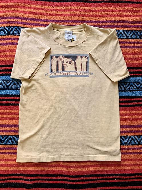 Vintage Dave Matthews Band faded yellow t-shirt size medium