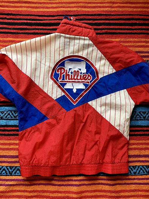Vintage Philadelphia Phillies striped windbreaker size large