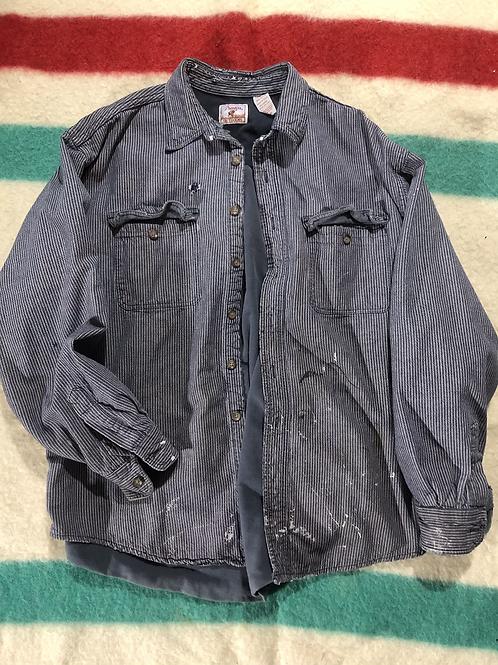 Vintage Pinstripe work jacket XL