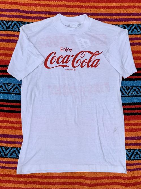 Vintage Enjoy Coca Cola white t shirt size small