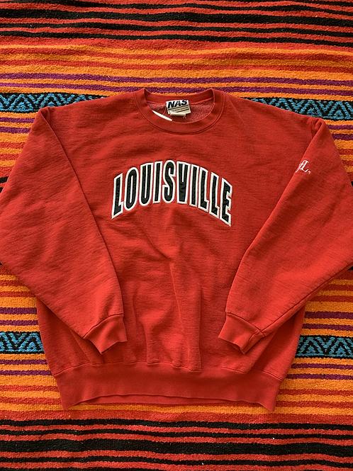 Vintage University of Louisville red sweatshirt size XL