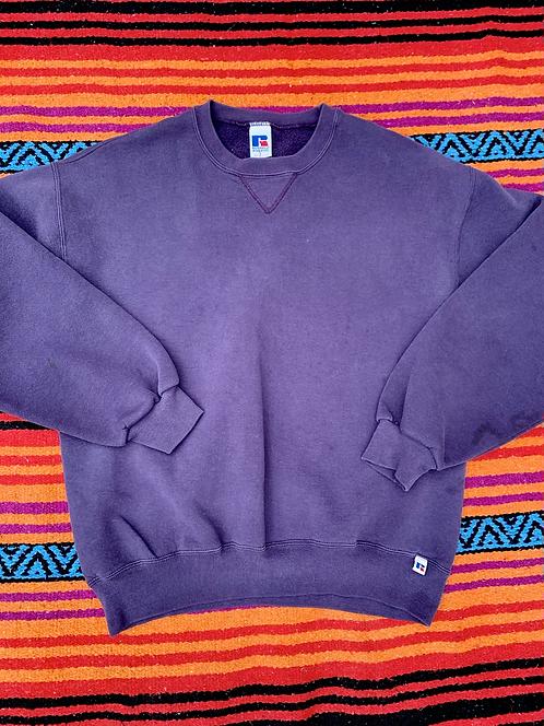 Vintage blank faded purple Russell Athletics sweatshirt size large