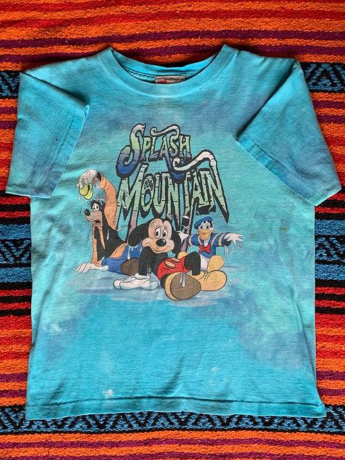 Vintage Disney World Splash Mountain tie dye T shirt size Small
