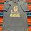 Thumbnail: Vintage 1990s R.E.M. Burger Flipper distressed gray/blue t-shirt size XL