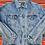 Thumbnail: Vintage light wash Fazoli's denim jacket size Large