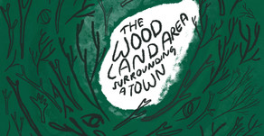 the woodland area surrounding a town - a poem