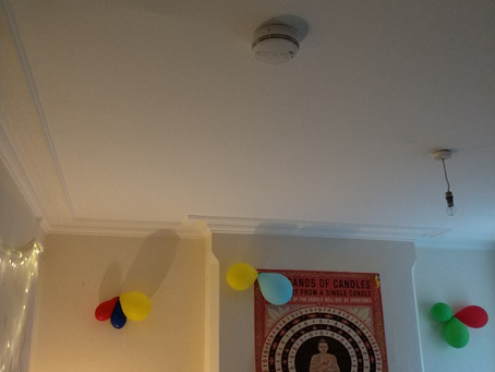 Installation of 2 additional domestic smoke detectors in Nottingham. HMO