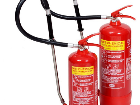 6L Wet Chemical Fire Extinguisher for your F Class deep fat fryer cover