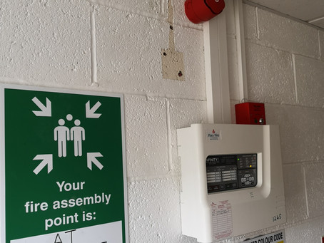 Fire alarm installation in Leicester.