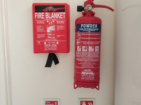 Fire extinguisher maintenance.