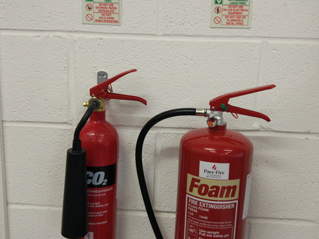 New customer, supplied and installed 2 extinguishers