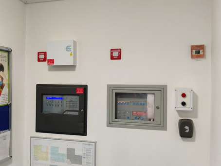 Installation of fire alarm monitoring in Nottingham City Centre.