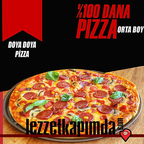 Orta boy pizza dana etli