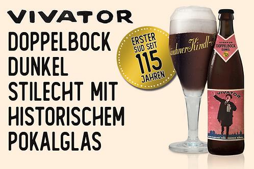 Vorbestellen: Münchner Kindl Vivator mit stilechtem Pokalglas - Gratis Lieferung