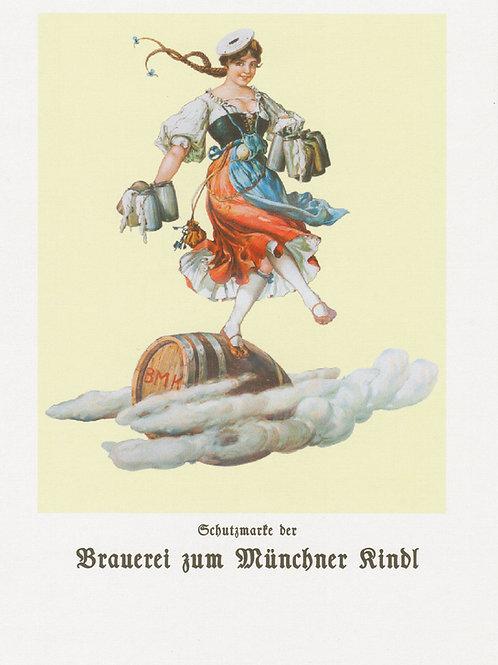 """Postkarte """"Schutzmarke der Brauerei zum Münchner Kindl"""" - Gratis Lieferung"""