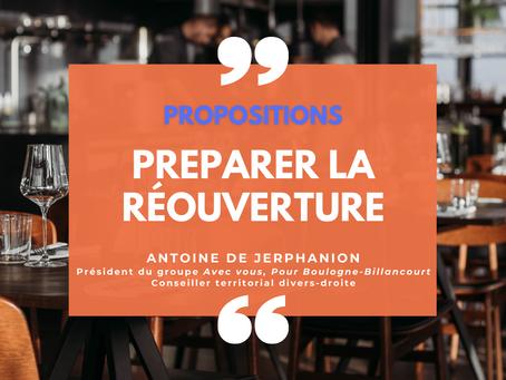 Préparer la réouverture des restaurants à Boulogne-Billancourt