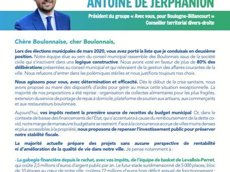 Lettre aux Boulonnais - Mai 2021