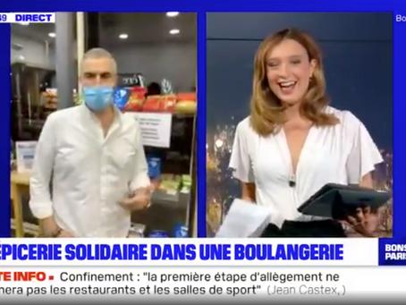 BFM TV : une épicerie solidaire dans une boulangerie à Boulogne-Billancourt