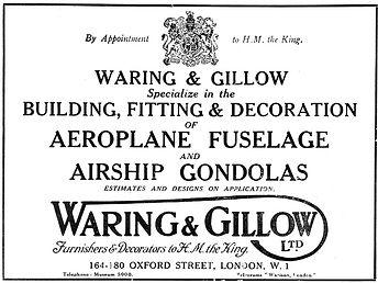 Aircraft Manufacturers-WaringGillow-1919
