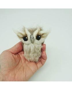Needle Felted Fluffy Owl