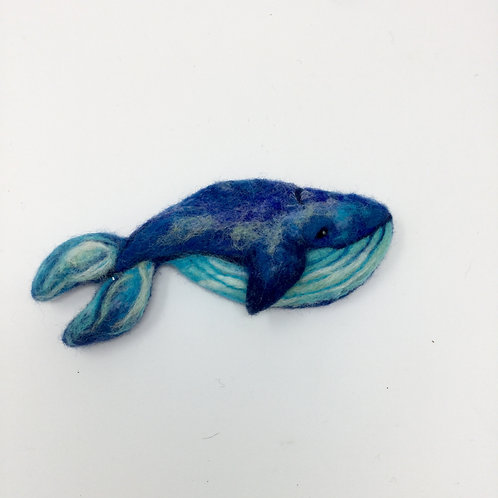 Blue Whale Brooch / Badge