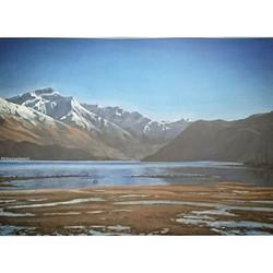 Pastel Landscape - Lake Wanaka NZ