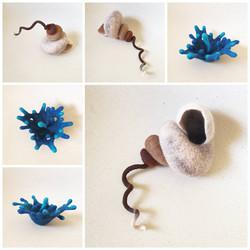 Splat and Spiral sculptures