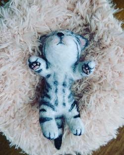 Needle Felted Tabby Kitten