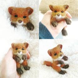 Needle Felted Fox Cub