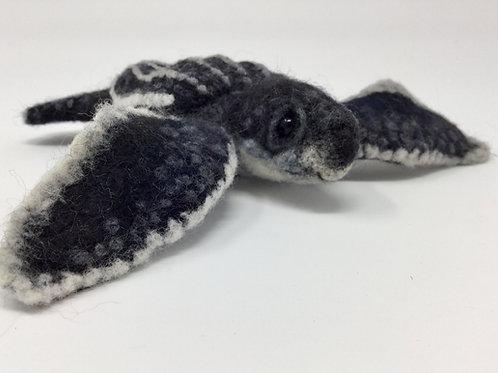 Needle Felted Baby Leatherback Turtle