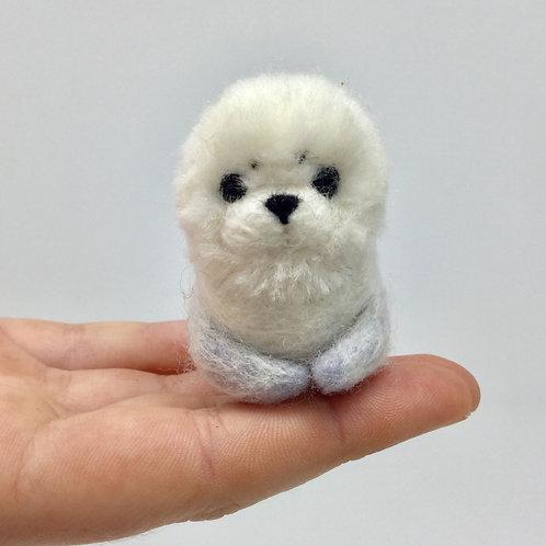 Needle Felted Baby Seal (b)