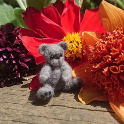 Miniature Needle Felted jointed bear