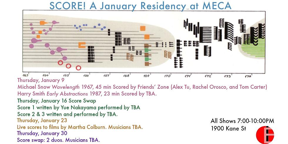 Score!: A January residency at MECA on Thursdays