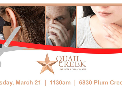 Join Amarillo Chamber of Commerce for a Ribbon Cutting for Quail Creek Ear, Nose & Throat Center