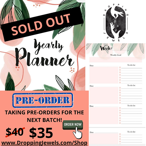 Dropping Jewels Planner (PRE-ORDER NEW STOCK)