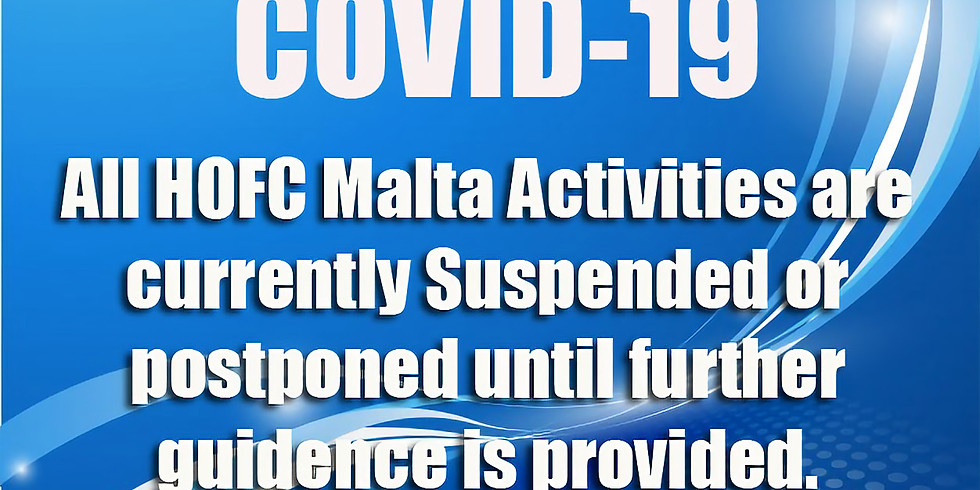 Due to Current COVID-19 Situation All Activities are currently Suspended or postponed