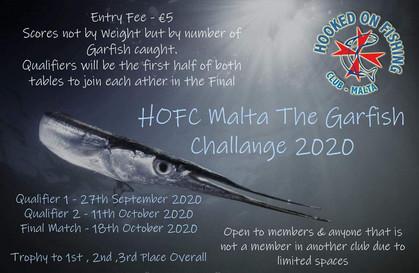 HOFC Garfish Challange  registration now open !!!!