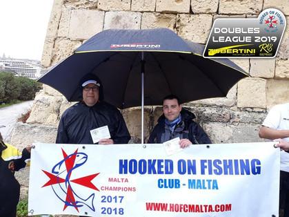 Tubertini Boys Marlon Tanti and Wayne Bugeja win the fourth match in Manoel Island