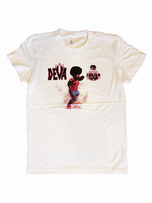 White T-shirt. Deva Music