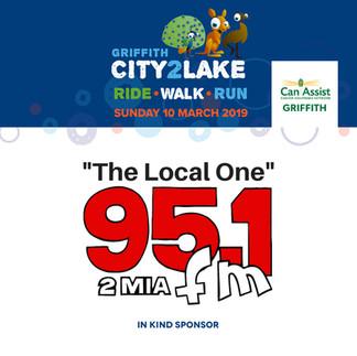 City2Lake Sponsor - In Kind - 2MIA 95.1.