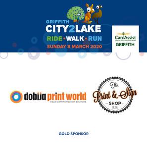 city2lake sponsor - gold - dobija print