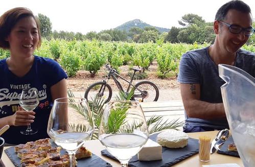 Rando VTTae et dégustation dans les vignes à la Londe les Maures