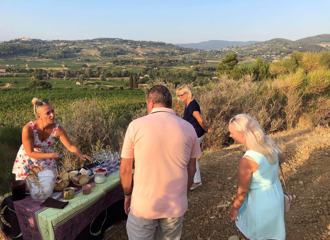 Dégustation champêtre à la Cadière d'Azur