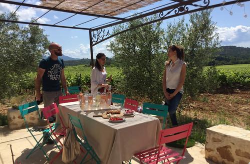 A la découverte d'un vignoble provençal... dégustation au cabanon